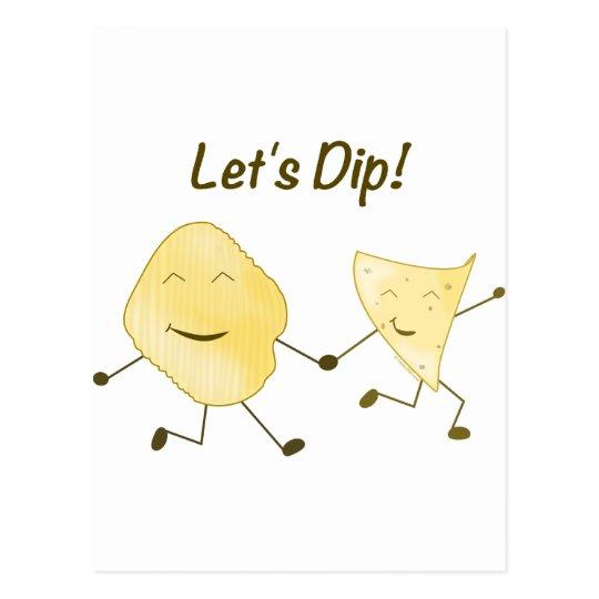 Let's Dip! Postcard