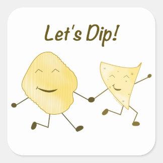 Let's Dip! Square Sticker