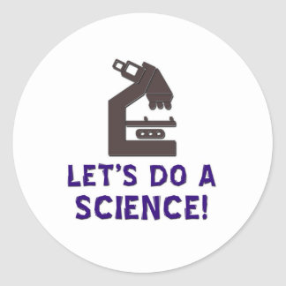 Let's do a science! classic round sticker