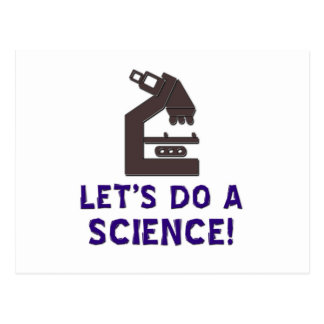 Let's do a science! postcard