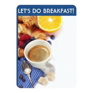 Let's Do Breakfast Invitations