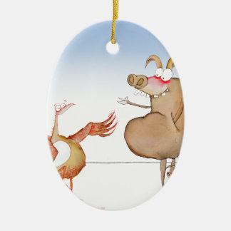 let's do breakfast, tony fernandes ceramic ornament