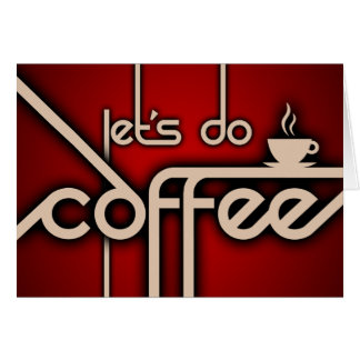 let's do coffee! stationery note card