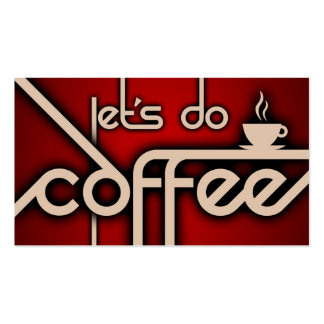 let's do coffee (customer loyalty) Double-Sided standard business cards (Pack of 100)