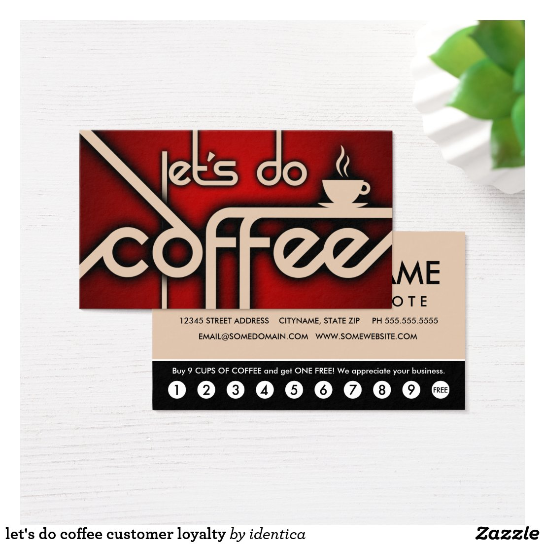 let's do coffee customer loyalty business card