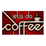 let's do coffee (customer loyalty) business cards