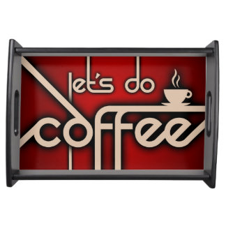 let's do coffee serving platter