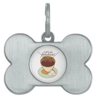 Let's do fondue! pet ID tags