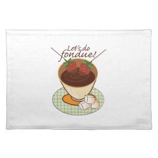 Let's do fondue! place mats