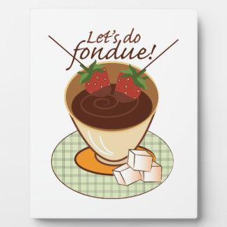 Let's do fondue! display plaques
