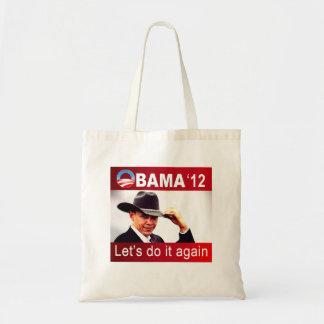 Let's do it again! Cowboy Barack Obama 2012 Canvas Bags