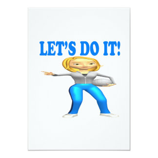 Lets Do It 5x7 Paper Invitation Card