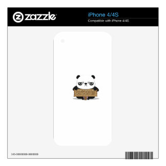 """Let's Do It!"" Panda iPhone 4 Decals"
