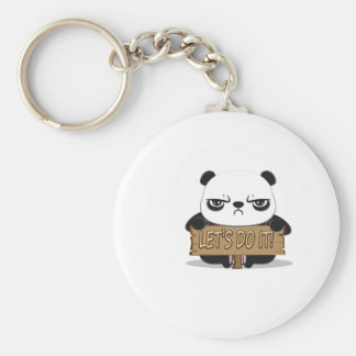 """Let's Do It!"" Panda Keychain"