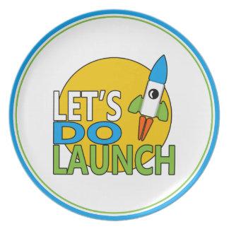 Let's Do Launch Melamine Plate