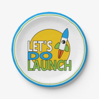 Let's Do Launch Paper Plate