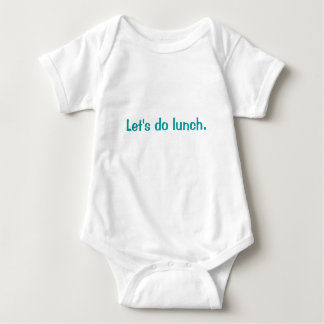 Let's do lunch. baby bodysuit