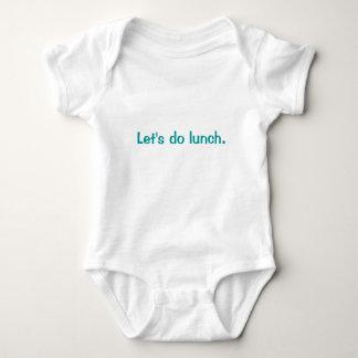 Let's do lunch. baby bodysuit