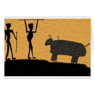 Let's do Lunch Cave Drawing Greeting Card