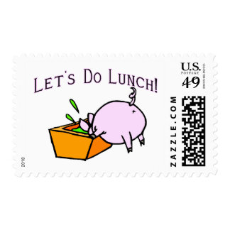 Let's Do Lunch Postage Stamp