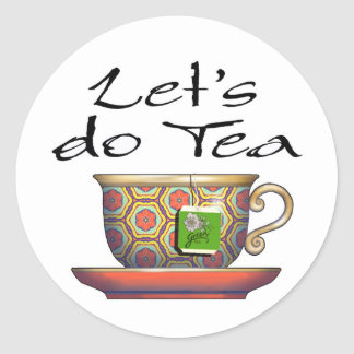 Let's do Tea - 002 Classic Round Sticker