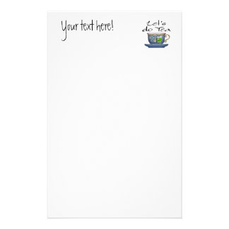 Let's do Tea - 003 Personalized Stationery