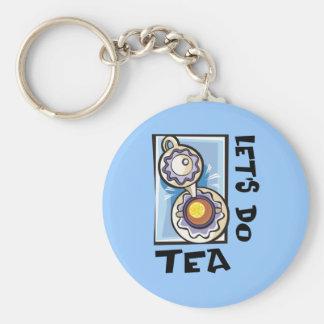 Let's Do Tea Keychain