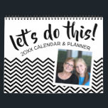 """Let&#39;s Do This - Planner with Goals and 2 photos Calendar<br><div class=""""desc"""">Add your favorite photos to make a modern photography and organizer calendar. Each month has a space for goals and notes. There is also a space on the front and the back to customize with pictures.</div>"""