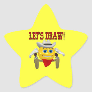Lets Draw Star Stickers