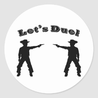 Let's Duel! Classic Round Sticker