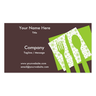 Let's Eat Business Card In Kiwi