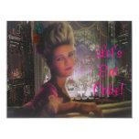 Let's Eat Cake Marie Antoinette Wedding Save Custom Invitation