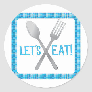 Lets Eat Classic Round Sticker