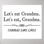 Let's Eat Grandma Commas Save Lives Print