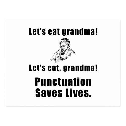Lets Eat Grandma Postcard