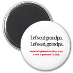 Let's Eat Grandpa 2 Inch Round Magnet