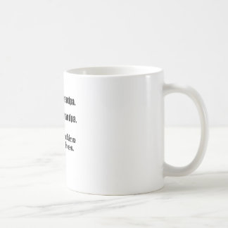 Let's Eat Grandpa Punctuation Saves Lives Classic White Coffee Mug