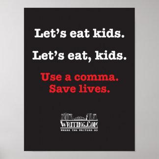 Let's eat kids. poster