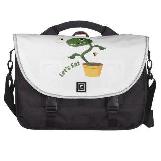 Lets Eat Laptop Messenger Bag
