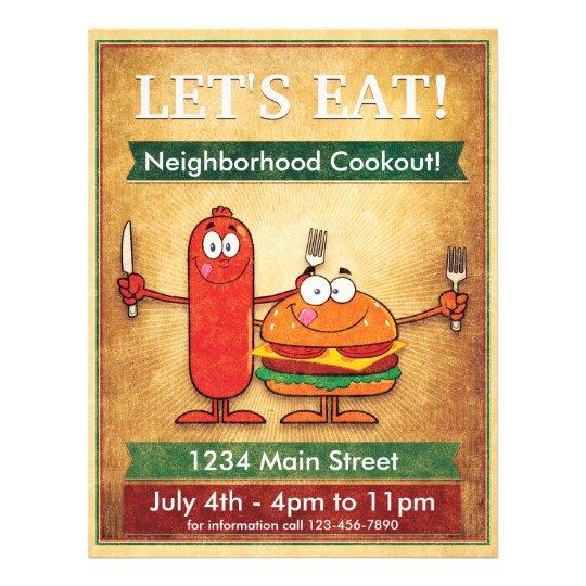 neighborhood cookout flyer