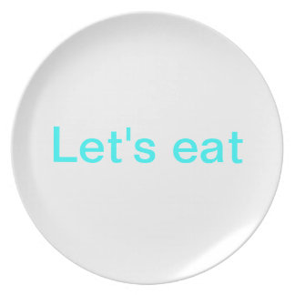 Let's eat plate