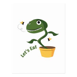 Lets Eat Postcard