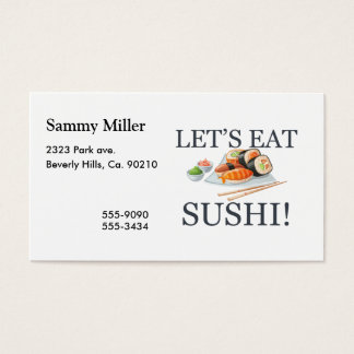 Let's Eat Sushi Business Card