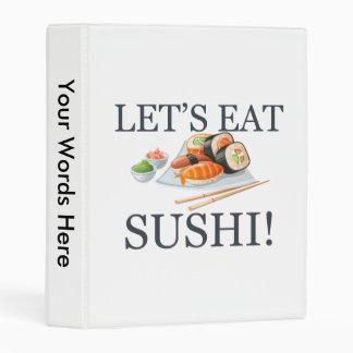 Let's Eat Sushi Mini Binder