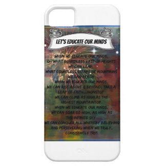 LET'S EDUCATE OUR MINDS - Poetic iPhone Case iPhone 5 Cases