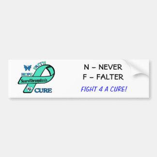 Let's End NF (Neurofibromatosis) Car Bumper Sticker