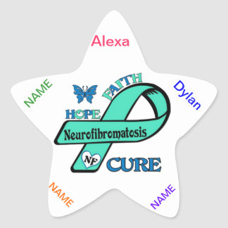 Let's End NF (Neurofibromatosis) Star Sticker