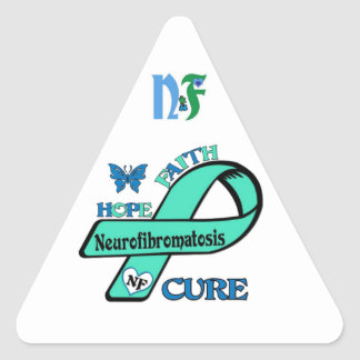 Let's End NF (Neurofibromatosis) Triangle Sticker