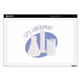 "Lets Experiment 17"" Laptop Decal"