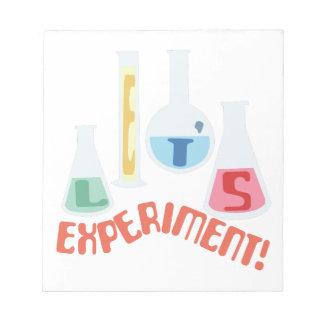 Lets Experiment! Memo Pad